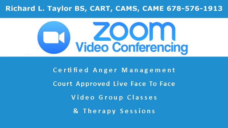 Zoom Anger Management Classes & Therapy Sessions 50 US States